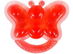 Грызунок с водой Бусинка Бабочка красный (1085/1)
