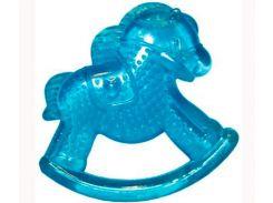Грызунок с водой Бусинка Лошадка синий (1081)