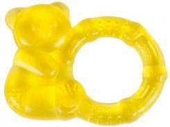 Грызунок с водой Бусинка Медвежонок желтый (1088/2)