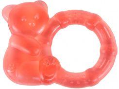 Грызунок с водой Бусинка Медвежонок красный (1088/1)