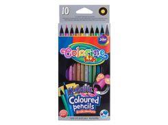 Карандаши цветные металлик, 10 цветов, Colorino
