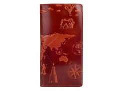Кожаный кошелек HiArt Crystal Amber 7 wonders of the world янтарный (WP-02-C18-1148-T002)