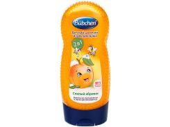Шампунь для мытья волос и тела Спелый абрикос (230 мл.), Bubchen