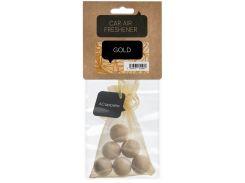 Ароматизатор для автомобиля, деревянные шарики, Золото, ACappella