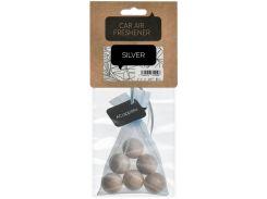 Ароматизатор для автомобиля, деревянные шарики, Серебро, ACappella