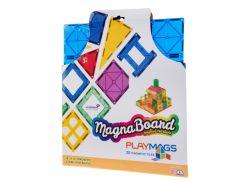 Магнитный конструктор платформа для строительства (синяя), Playmags
