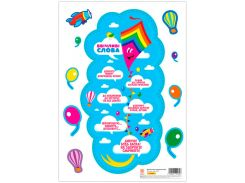 Декор класса Воздушный змей Вежливые слова НУШ Зірка-книги (347304)