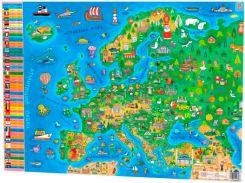 Плакат Детская карта Европы А1 Зірка (343974)