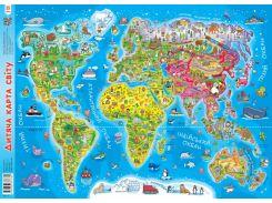 Плакат Детская карта мира А2 Зірка (286382)