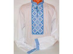 Рубашка мужская Krayka-opt Козак лён сине-белая 2XL (R_D_30C_3_W_2XL)