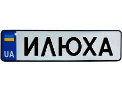 ИЛЮХА, номер на коляску, 28 × 7.5 см, Це Добрий Знак