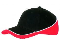 Кепка Cofee New Wedge размер One Size цвет черный с бело-красным (4240-3 CO)