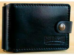 Зажим для купюр Gridasov Leathercraft Cowboy Plus из натуральной кожи черный (WL-004-BK)