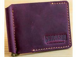 Зажим для купюр Gridasov Leathercraft Cowboy из натуральной кожи бордовый (WL-005-MR)
