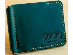 Зажим для купюр Gridasov Leathercraft Cowboy из натуральной кожи зеленый (WL-005-GR)