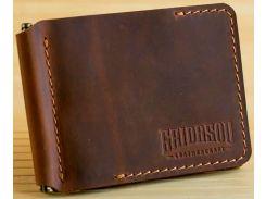 Зажим для купюр Gridasov Leathercraft Cowboy из натуральной кожи коричневый (WL-005-BR)