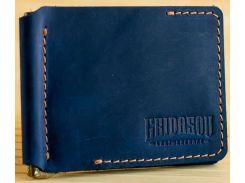 Зажим для купюр Gridasov Leathercraft Cowboy из натуральной кожи синий (WL-005-BL)