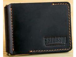Зажим для купюр Gridasov Leathercraft Cowboy из натуральной кожи темно-коричневый (WL-005-DBR)
