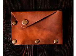 Кардхолдер Gridasov Leathercraft Corner из натуральной кожи коричневый (CR-007-BR)