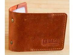 Кардхолдер Gridasov Leathercraft Quadro из натуральной кожи коричневый (CR-010-BR)