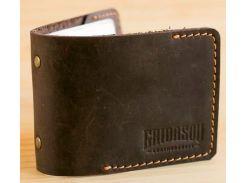 Кардхолдер Gridasov Leathercraft Quadro из натуральной кожи темно-коричневый (CR-010-DBR)