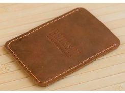 Кардхолдер Gridasov Leathercraft Uno из натуральной кожи коричневый (CR-009-BR)