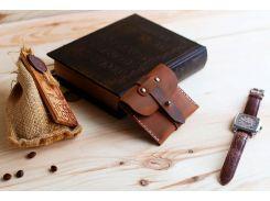 Кардхолдер Gridasov Leathercraft Wild West из натуральной кожи коричневый (CR-008-BR)