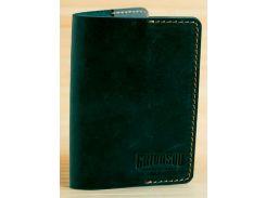 Обложка для паспорта Gridasov Leathercraft Citizen из натуральной кожи зеленая (CV-004-GR)