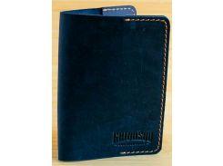 Обложка для паспорта Gridasov Leathercraft Citizen из натуральной кожи синяя (CV-004-BL)