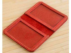 Обложка для прав и ID карт Gridasov Leathercraft Identicus из натуральной кожи красная (CV-007-RD)