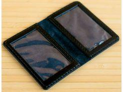 Обложка для прав и ID карт Gridasov Leathercraft Identicus из натуральной кожи черная (CV-007-BK)