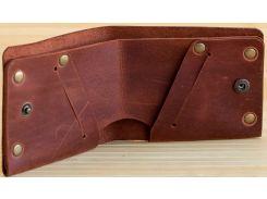 Портмоне Gridasov Leathercraft Houston из натуральной кожи коричневое (WL-021-BR)