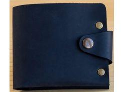 Портмоне Gridasov Leathercraft Maximus Plus из натуральной кожи синее (WL-025-BL)