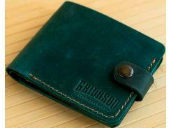 Портмоне Gridasov Leathercraft Moriarti из натуральной кожи зеленое (WL-015-GR)
