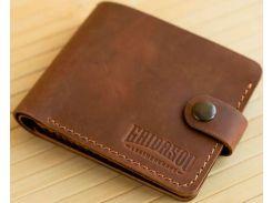 Портмоне Gridasov Leathercraft Moriarti из натуральной кожи коричневое (WL-015-BR)