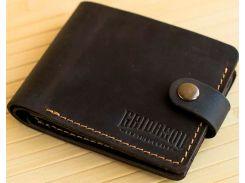 Портмоне Gridasov Leathercraft Moriarti из натуральной кожи темно-коричневое (WL-015-DBR)