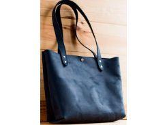 Сумка шоппер Gridasov Leathercraft Simplicity из натуральной кожи синяя (BG-020-BL)