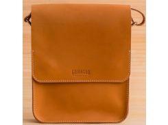 Сумка-планшет для тетрадей Gridasov Leathercraft Brick из натуральной кожи оранжевая (BG-031-OR)