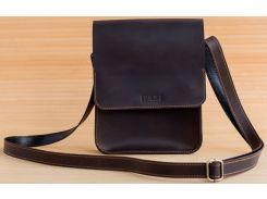 Сумка-планшет для тетрадей GridasovLeathercraft Brick натуральная кожа темно-коричневая (BG-031-DBR)