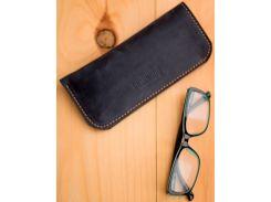 Чехол для очков Gridasov Leathercraft Protectus из натуральной кожи синий (CS-009-BL)