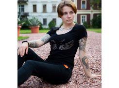 Женская футболка с вышивкой Batiar Руки на бюст черная S (Руки_на_бюст_1_S)