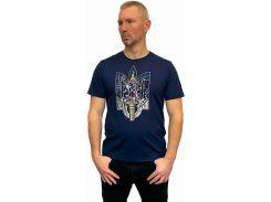 Мужская футболка с вышивкой Batiar Тризуб темно-синяя XL (Тризуб_XL)