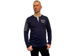 Мужской джемпер с вышивкой Batiar Tattoo-Мужніcть темно-синий XL (Джем_Tattoo-Мужніcть_XL)