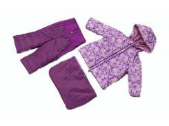 Костюм Модный карапуз 3 в 1 сиреневый для девочки демисезонный 68-86 см (03-00958-0_68-86)