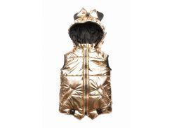 Жилет Модный карапуз Микки золотой для девочки 98 см (03-00803-1_98)