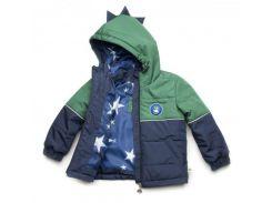 Куртка Модный карапуз Дино сине-зеленая для мальчика 104 см (03-00957-1_104)