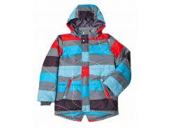 Куртка Модный карапуз для мальчика в полоску демисезонная 134 см (03-00971-0_134)