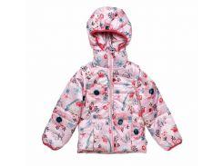 Куртка-жилет Модный карапуз розовая для девочки с цветочным принтом 98 см (03-00695-2_98)
