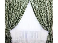 Шторы VR-Textil блэкаут двусторонний зеленый 2 шт 1 × 2,7 м (2036)