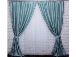 Шторы VR-Textil блэкаут Софт Люкс светло-бирюзовый 2 шт 1,5 × 2,85 м (2114)